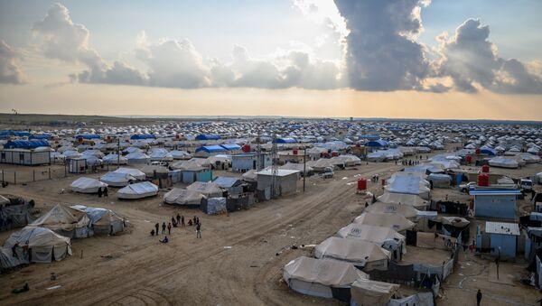Suriye'nin kuzeyinde bulunan Al-Hol mülteci kampı - Sputnik Türkiye