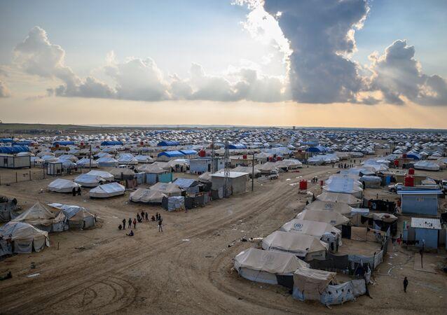 Suriye'nin kuzeyinde bulunan Al-Hol mülteci kampı