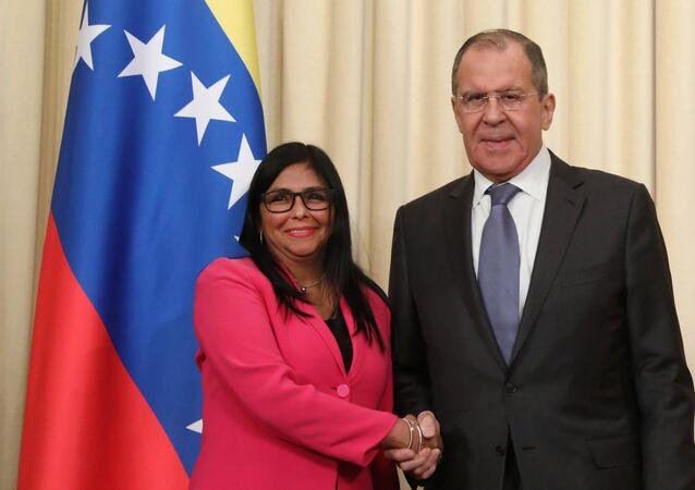 Rusya Dışişleri Bakanı Sergey Lavrov- Veneüzella Devlet Başkan Yardımcısı Delcy Rodríguez