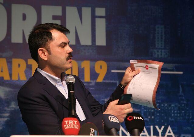Çevre ve Şehircilik Bakanı Murat Kurum, QR kodlu tapuyu tanıttı