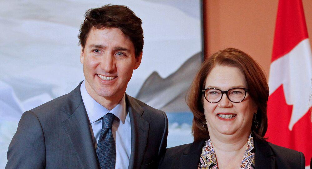 Kanada Başbakanı Justin Trudeau ve Hazine Kurulu Başkanı Jane Philpott