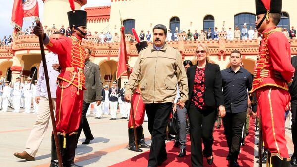 Venezüella Devlet Başkanı Nicolas Maduro, bir önceki başkan Hugo Chavez'in 6. ölüm yıldönümü için düzenlenen anma törenine katıldı - Sputnik Türkiye