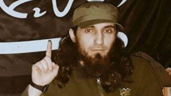 Çeçen cihatçıların örgütü Ecnad El Kavkaz'ın lideri Hamza Şişani - Sputnik Türkiye
