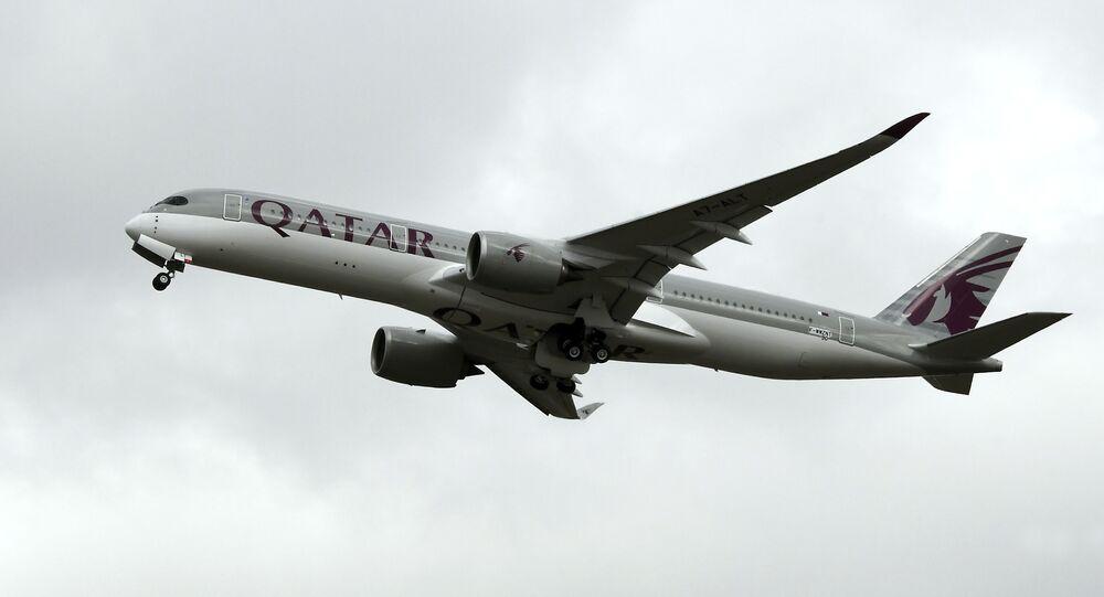 Katar Havayolları'na ait bir uçak