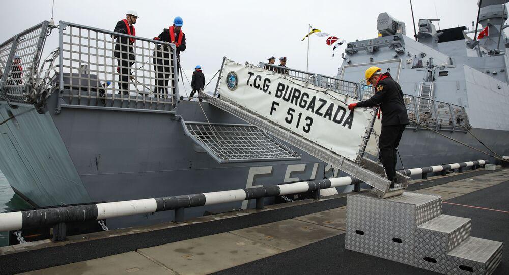 Türk savaş gemileri, 'Mavi Vatan 2019' tatbikatı kapsamında Novorossiysk'te