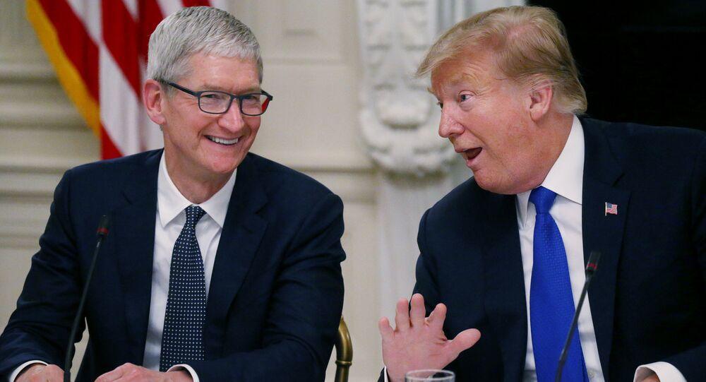 ABD Başkanı Donald Trump ve Apple CEO'su Tim Cook