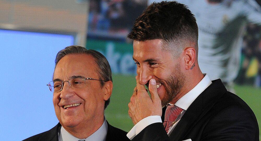 Real Madrid Başkanı Florentino Perez ile rövanş maçında cezalı olan Sergio Ramos arasında bir tartışma yaşandığı iddia edildi.