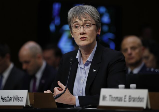 Air Force Secretary Heather Wilson testifies during a Senate Judiciary Committee hearing on Capitol Hill in Washington, Wednesday, Dec. 6, 2017