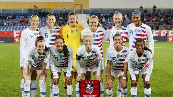 ABD kadın milli futbol takımının oyuncuları - Sputnik Türkiye