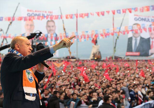 Cumhurbaşkanı Erdoğan'ın 31 Mart yerel seçimleri için İskenderun mitingi