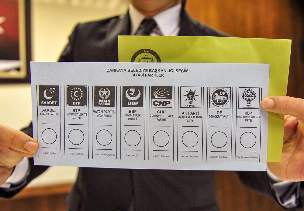 31 Mart yerel seçimi- Oy pusulası