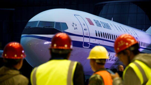 Boeing 737 Max 8 tipi yolcu uçağı - Sputnik Türkiye
