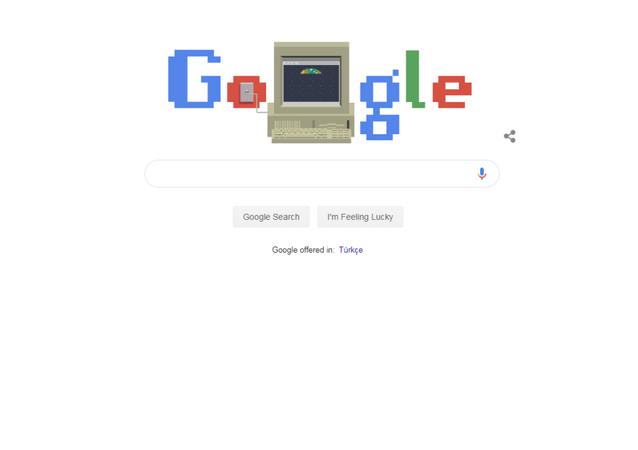 Google, World Wide Web sisteminin kuruluşunun 30. yılını hatırlatan görüntü