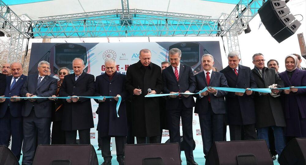 Recep Tayyip Erdoğan - Binali Yıldırım - Gebze-Halkalı Banliyö Tren Hatlarının Açılış Töreni