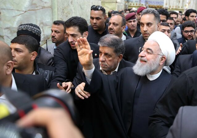 İran Cumhurbaşkanı Hasan Ruhani, Irak ziyareti kapsamında Necef kentini ziyaret etti