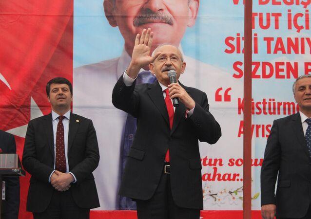 CHP Genel Başkanı Kemal Kılıçdaroğlu, Adıyaman'ın Tut ilçesinde partililere seslendi.