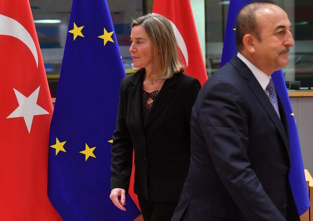 Federica Mogherini - Mevlüt Çavuşoğlu