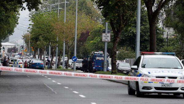 Yeni Zelanda'nın Christchurch şehrinde iki camiye yapılan saldırıların ardından bölgede geniş güvenlik önlemleri alındı - Sputnik Türkiye