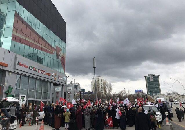 Saadet Partililer, A Haber, protesto