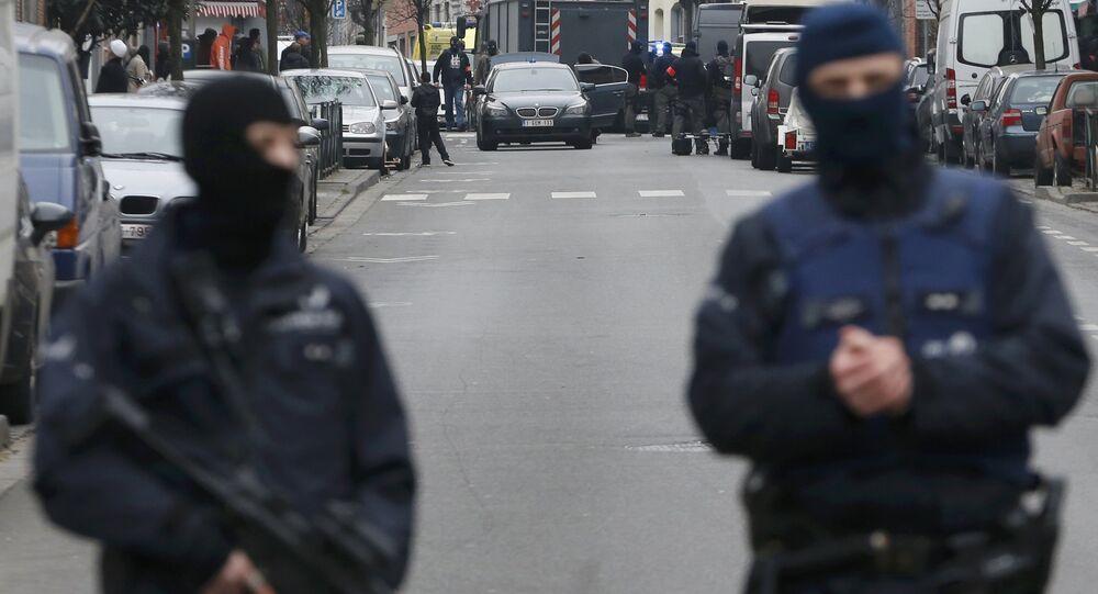 Brüksel, Belçika, polis