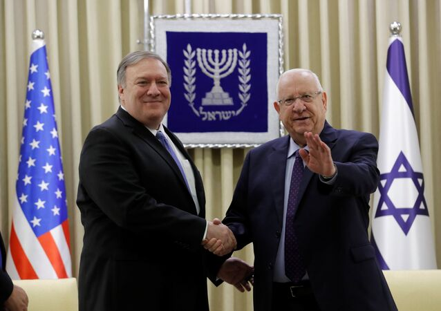 ABD Dışişleri Bakanı Mike Pompeo ve İsrail Cumhurbaşkanı Reuven Rivlin