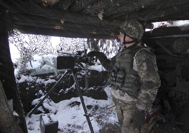 Ukrayna ordusundan bir asker