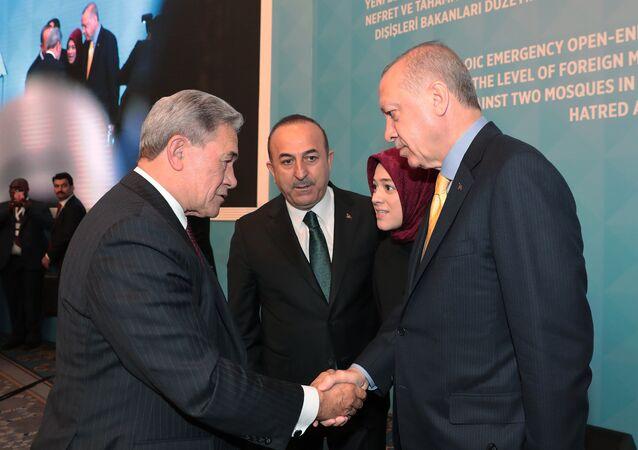 Cumhurbaşkanı Recep Tyayip Erdoğan - Yeni Zelanda Dışişleri Bakanı Winston Peters