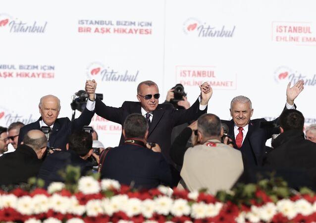 Recep Tayyip Erdoğan - Devlet Bahçeli - Binali Yıldırım