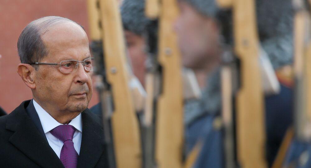 Lübnan Cumhurbaşkanı Mişel Aun, Moskova'yı ziyaret etti.