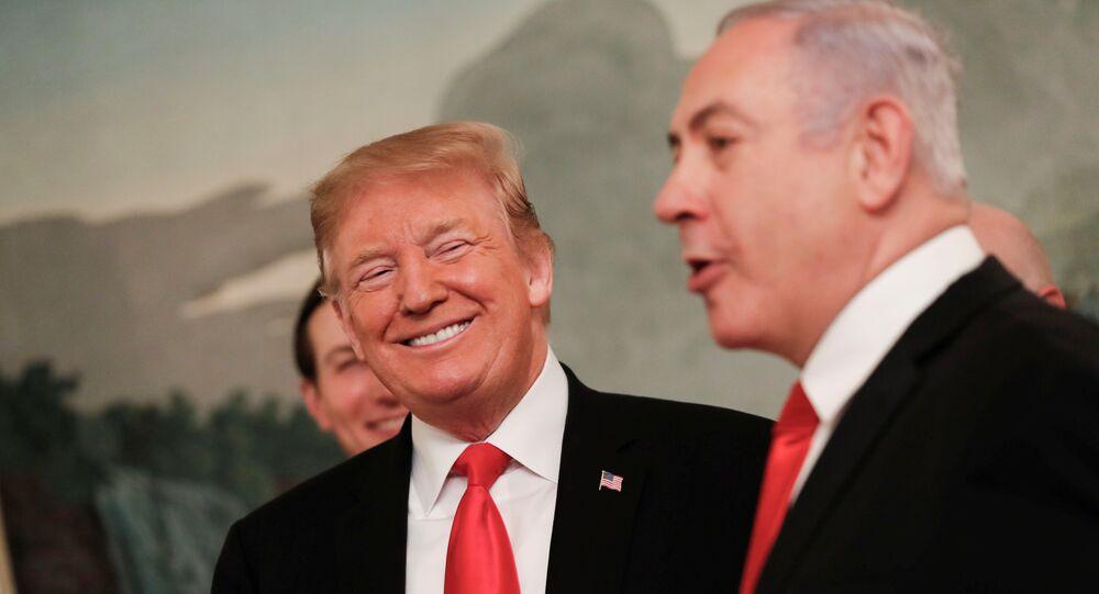 ABD Başkanı Donald Trump ile İsrail Başbakanı Benyamin Netanyahu, Beyaz Saray'da bir araya geldi