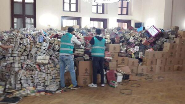 Hükümlüler 4 yılda 7 milyon kitap tasnif etti - Sputnik Türkiye