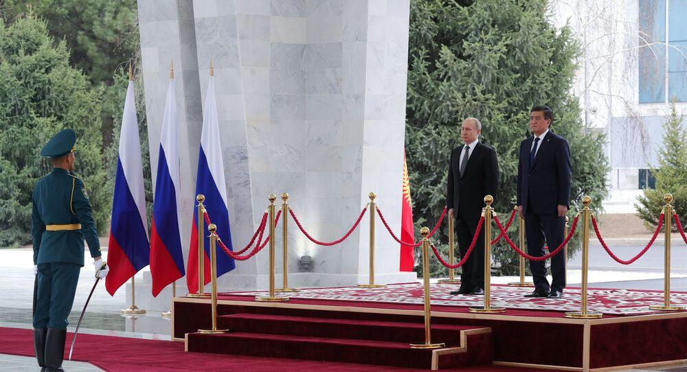 Rusya Devlet Başkanı Vladimir Putin ve Kırgızistan Devlet Başkanı Sooronbay Ceenbekov