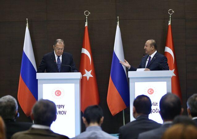 Dışişleri Bakanı Mevlüt Çavuşoğlu- Dışişleri Bakanı Sergey Lavrov