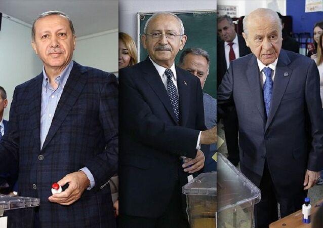 Erdoğan, Kılıçdaroğlu, Bahçeli