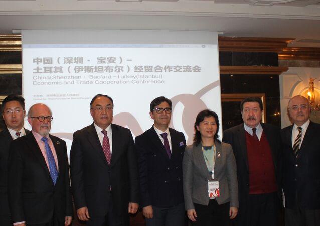 İstanbul'da gerçekleştirilen Türkiye-Çin: Akıllı Şehir Mühendisliğinin Yerel Kalkınmaya Etkileri' konferansında İstanbul Vali Yardımcısı İsmail Gültekin, SEDEFED Yönetim Kurulu Başkanı Ali Avcı ve Çin Shenzhen Bao'an Yerel Hükümeti Belediye Başkanı Guo Ziping katıldı.