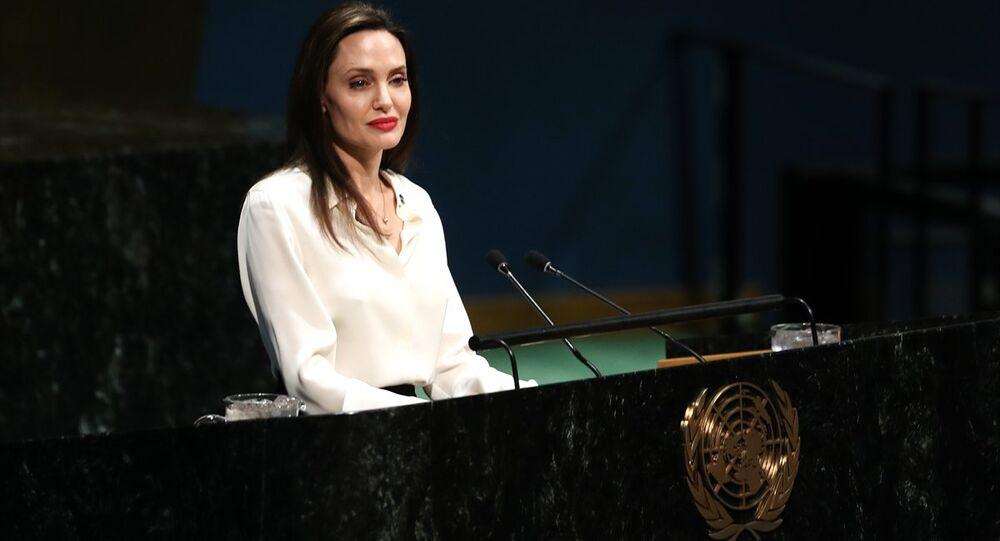 ABD'li ünlü oyuncu ve BM Mülteciler Yüksek Komiserliği İyi Niyet Elçisi Angelina Jolie