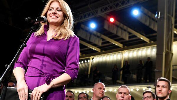 Zuzana Çaputova, Slovakya'nın ilk kadın cumhurbaşkanı seçildi. - Sputnik Türkiye