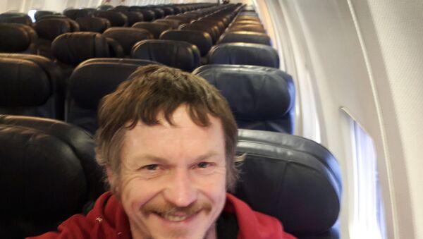 Litvanya'nın başkenti Vilnius'tan İtalya'nın kuzeyinde yer alan Bergamo kentine gitmek için yola çıkan Skirmantas Strimaitis, 188 kişilik Boeing 737-800 tipi uçakta tek başına uçtu. - Sputnik Türkiye