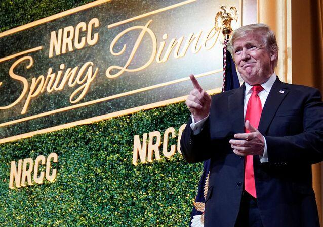 ABD Başkanı Donald Trump, Ulusal Cumhuriyetçiler Kongre Komitesi bağış yemeğinde konuştu.