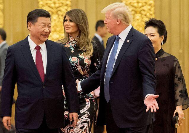 Şi Cinping ile Donald Trump