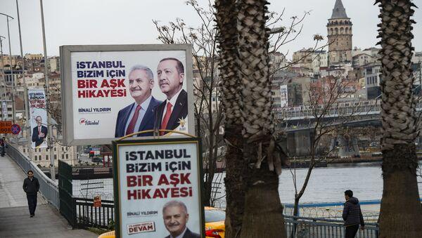 Recep Tayyip Erdoğan - Binali Yıldırım - billboard - Sputnik Türkiye