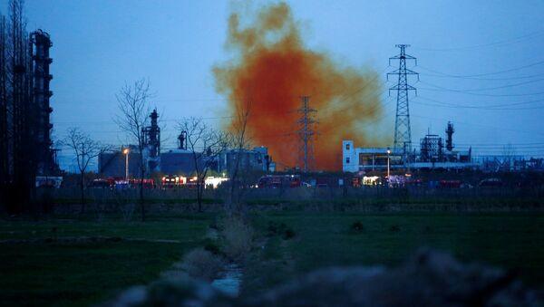 Çin'de kimya tesisindeki patlamada - Sputnik Türkiye