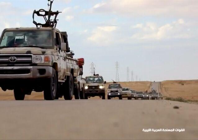 Halife Hafter'e bağlı Libya Ulusal Ordusu