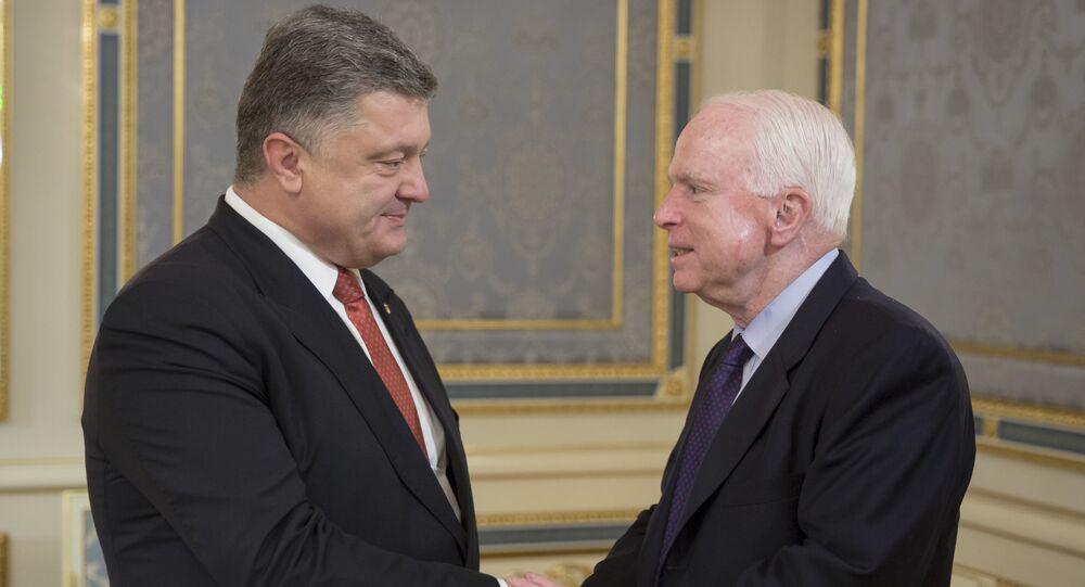 Ukrayna Devlet Başkanı Pyotr Poroşenko ve ABD'li senatör John McCain