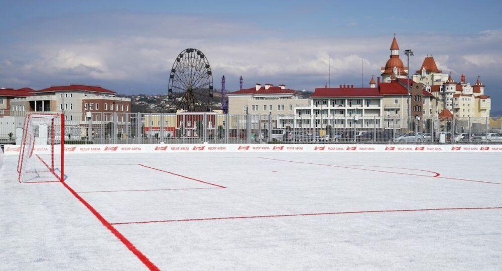 2018 FIFA Dünya Kupası sırasında kullanılan bardaklardan futbol sahası