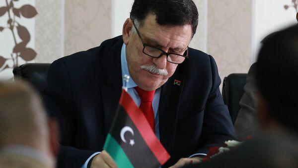 Libya Ulusal Mutabakat Hükümeti (UMH) Başkanlık Konseyi Başkanı Fayiz es-Serrac - Sputnik Türkiye