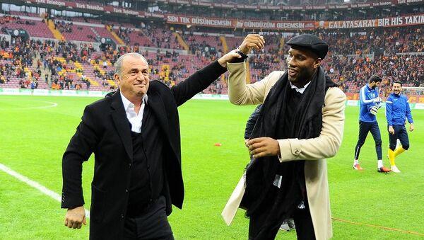 Didier Drogba - Fatih Terim - Sputnik Türkiye