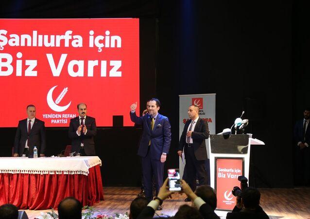 Yeniden Refah Partisi Genel Başkanı Fatih Erbakan