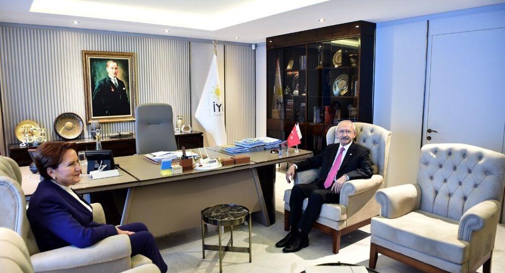 Cumhuriyet Halk Partisi Genel Başkanı Kemal Kılıçdaroğlu, İYİ Parti Genel Başkanı Meral Akşener'i  İYİ Parti Genel Merkezi'nde ziyaret etti.