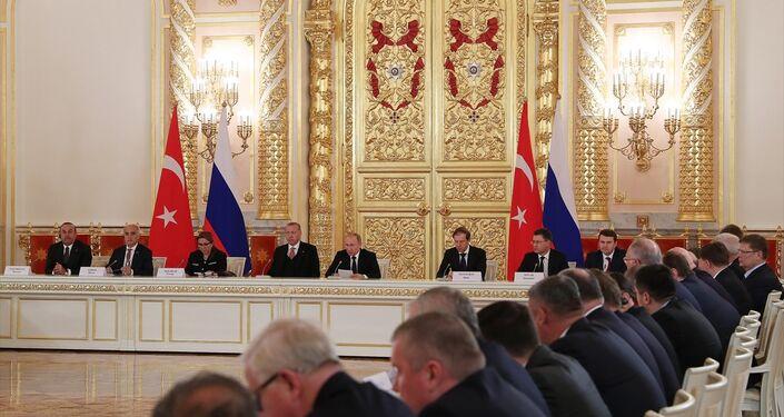 Moskova'da gerçekleşen Türkiye - Rusya 8. Üst düzey işbirliği toplantısı